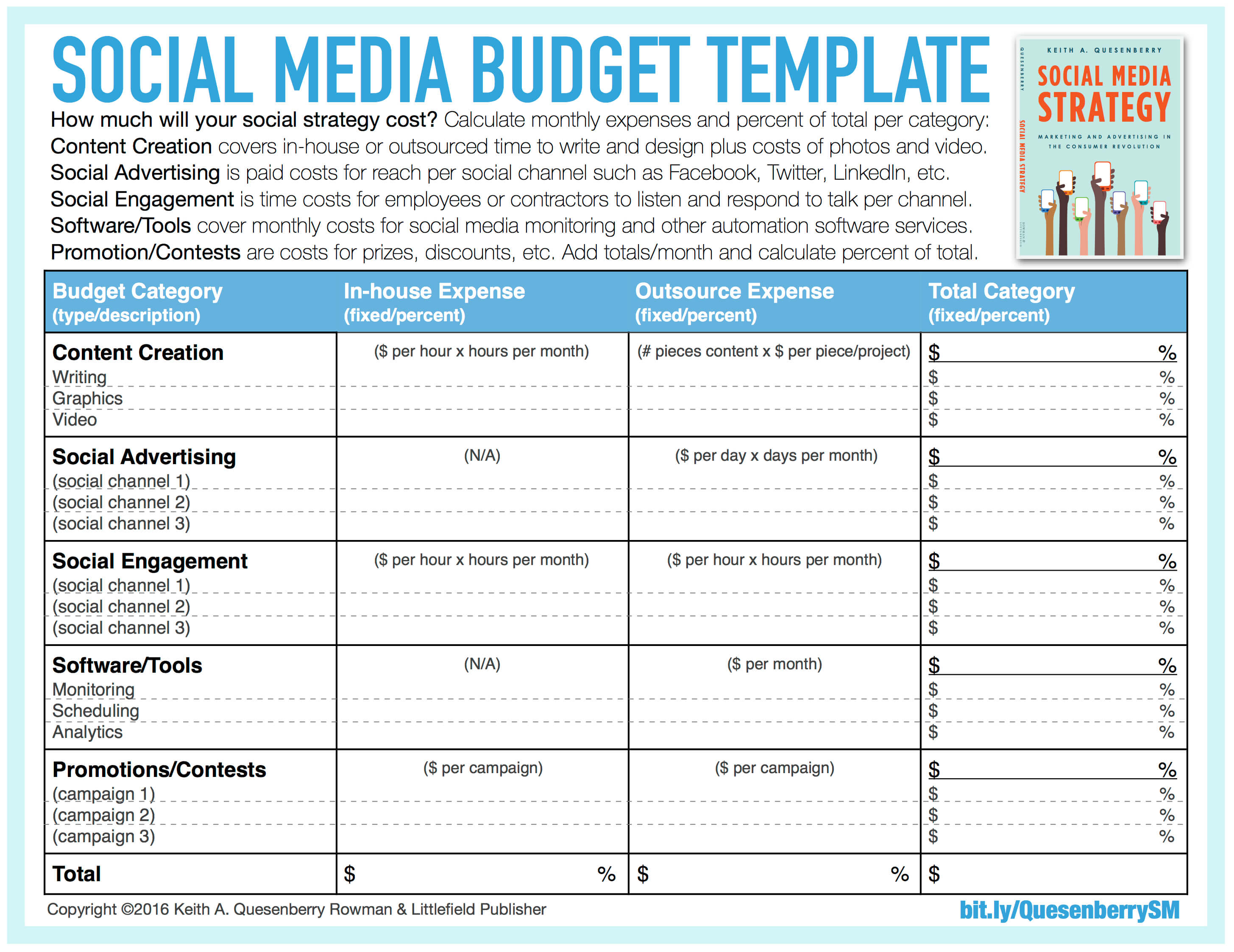 Social Media Tracking Spreadsheet