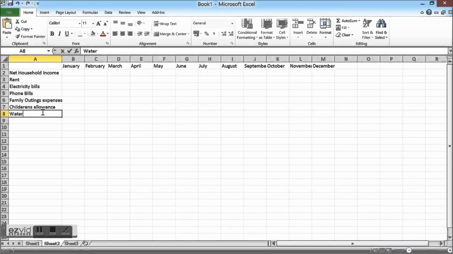 How To Make Attendance Sheet In Excel