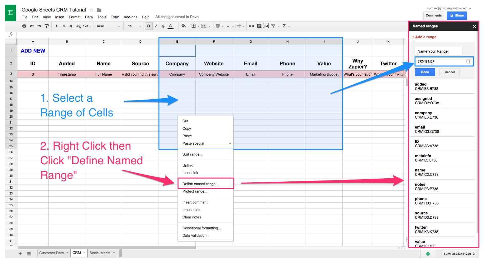 Load Development Spreadsheet