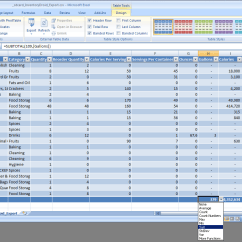 Kitchen Inventory App Outside Plans Food Pantry Spreadsheet Laobing Kaisuo