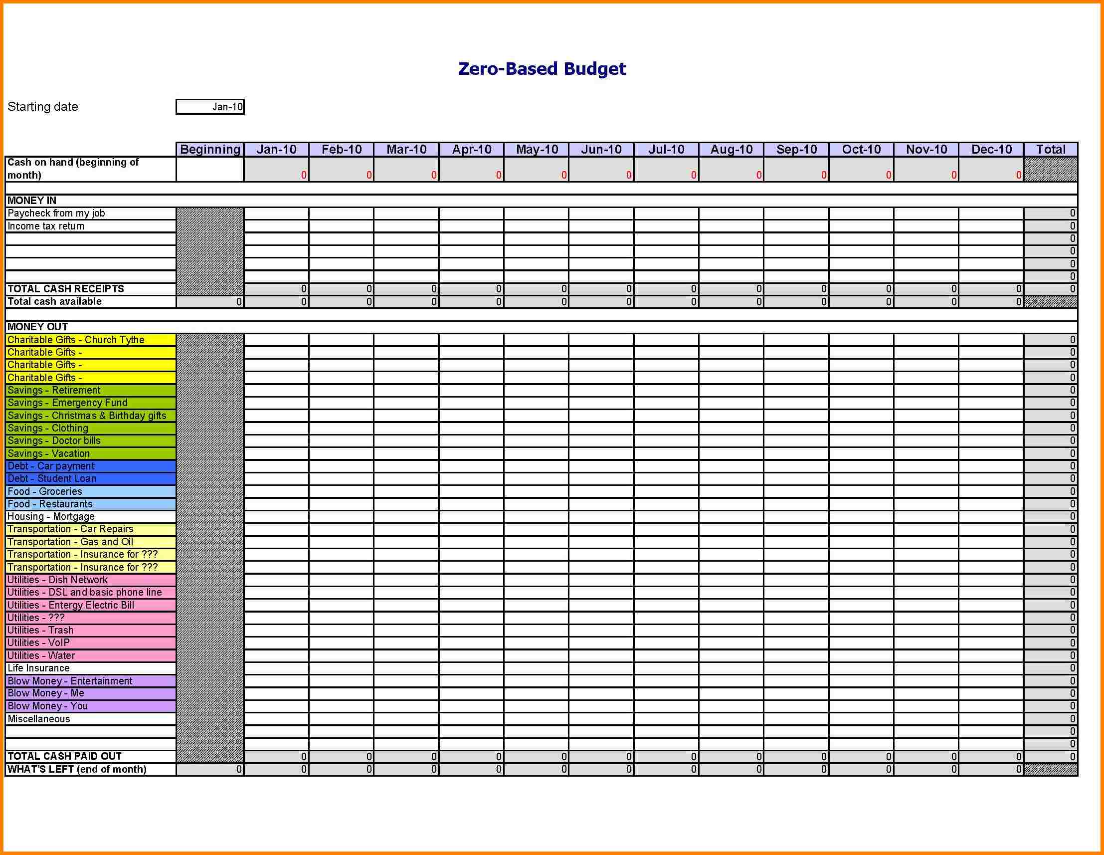 Monthly Income And Expense Worksheet Laobing Kaisuo