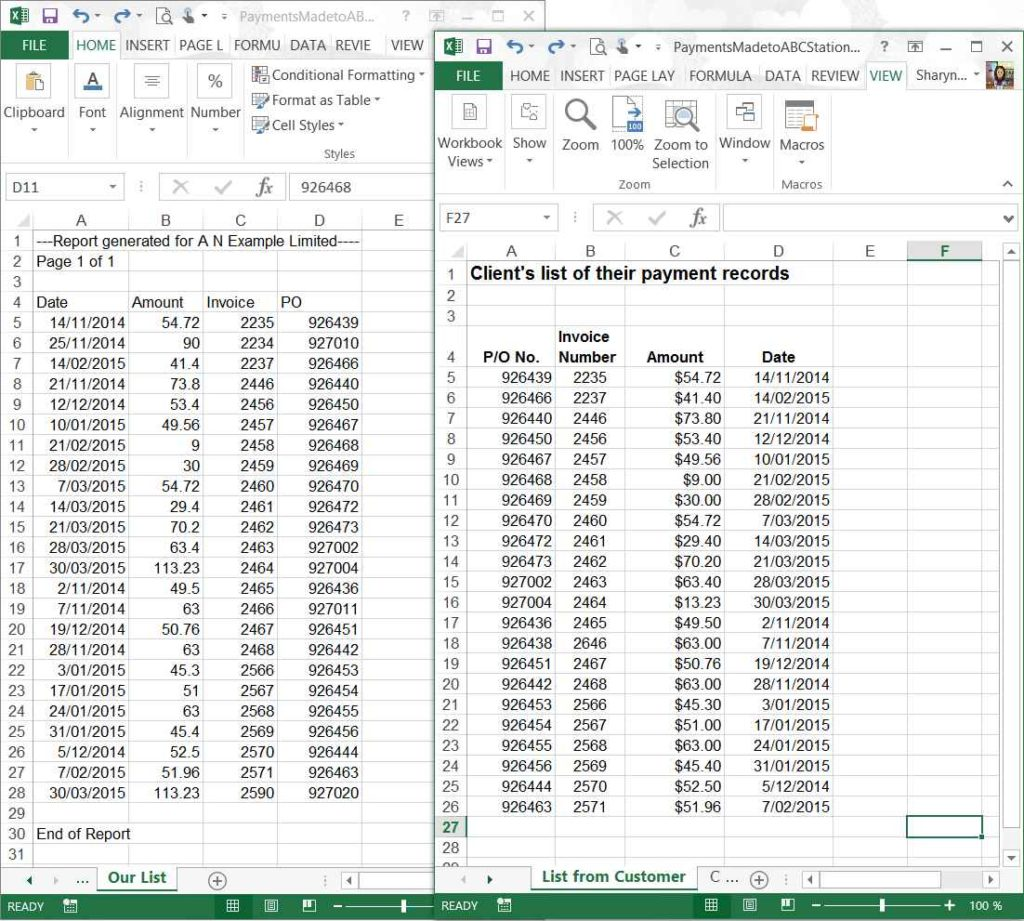 Excel Sample Data Free Download