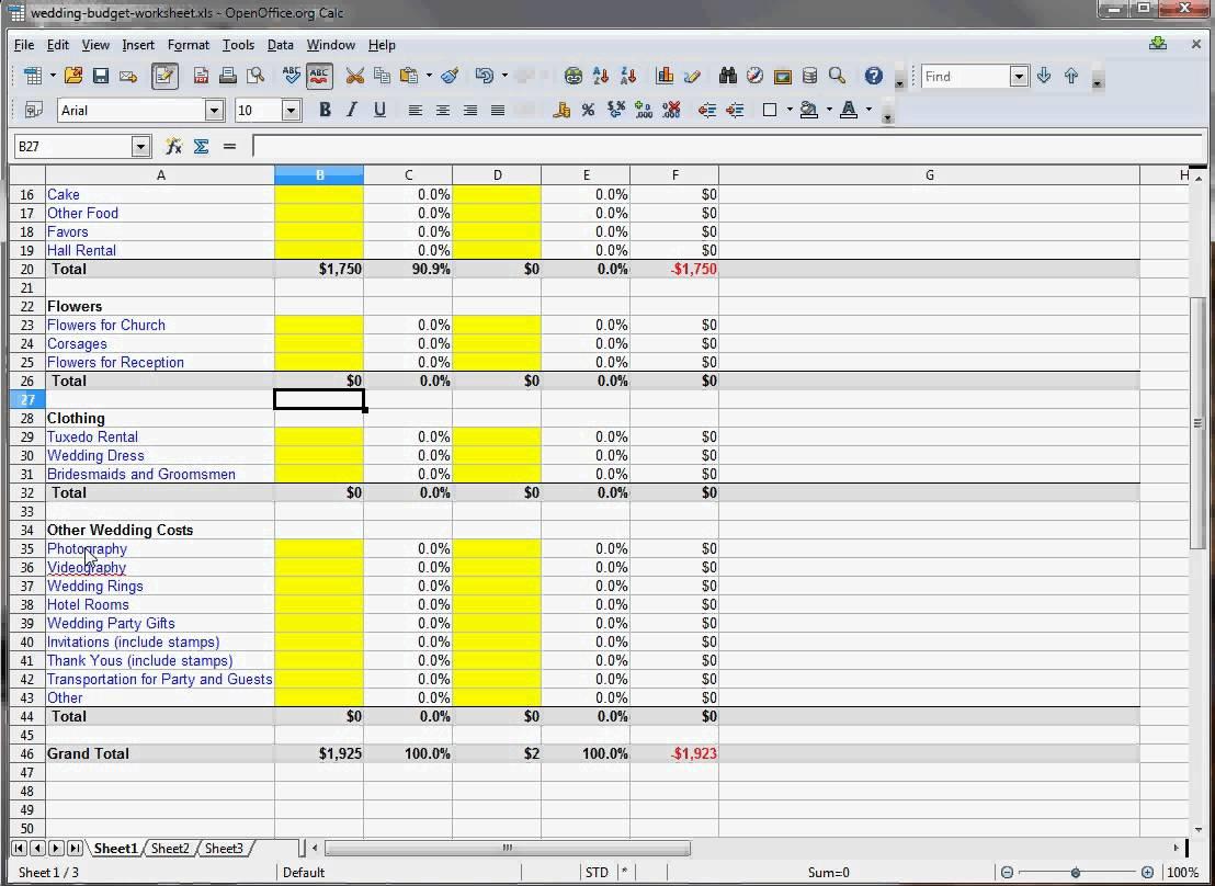 Interactive Budgeting Worksheet