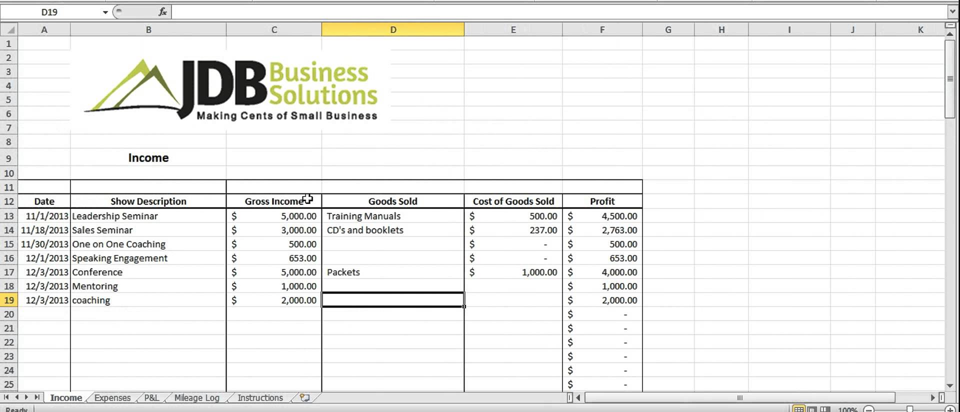 Free Excel Tax Worksheet