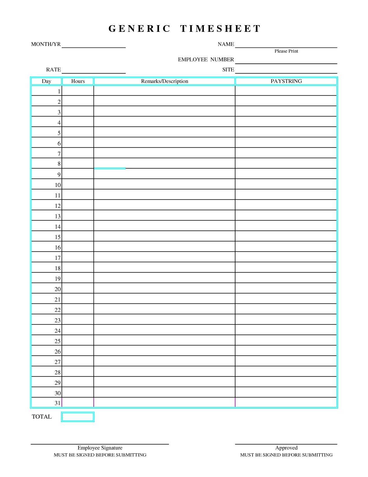 Time Study Spreadsheet In Excel