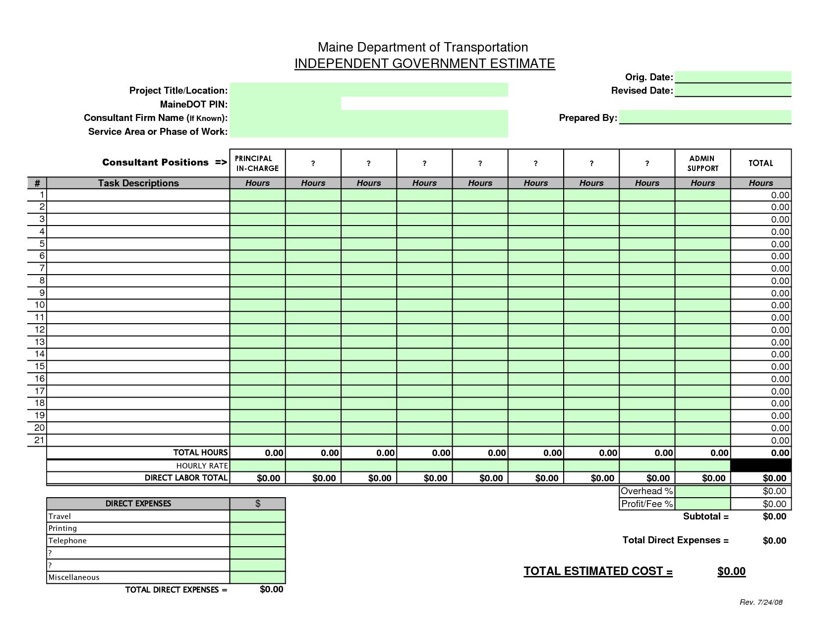 Welding Time Calculator Spreadsheet Sample
