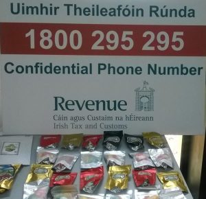 Revenue seize cannabis infused 'jelly sweets' and herbal cannabis in Portlaoise and contraband cigarettes in North Tipperary