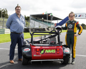 Ireland's top female racing driver, Roscrea's Nicole Drought, has teamed up with Naas Tyres and Auto Service