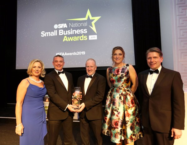 Tipperary-based company Horan Automation named Outstanding Small Business at the SFA National Small Business Awards 2019