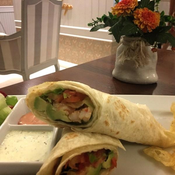 Avocado & Shrimp Wrap