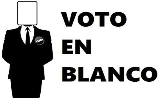 Resultado de imagen para voto en blanco