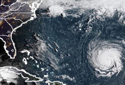 Alerta en la costa este de EE.UU por la llegada del huracán Florence