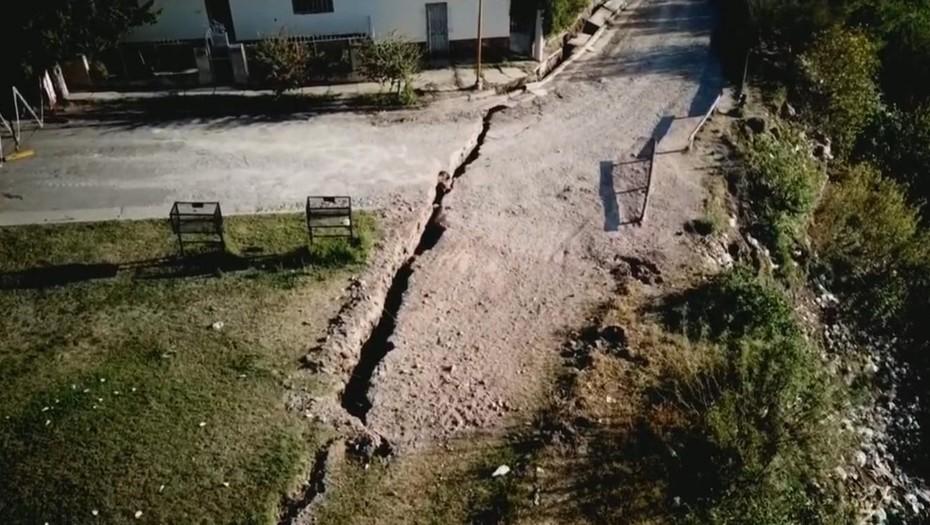 La extraña grieta que se abrió en una ciudad del litoral argentino