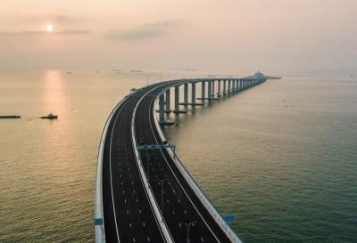 En China se inauguró el puente marítimo más largo del mundo