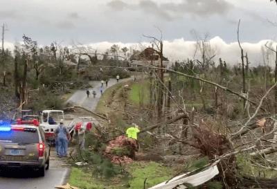 Dos tornados en Alabama dejaron 23 muertos y cuantiosos daños
