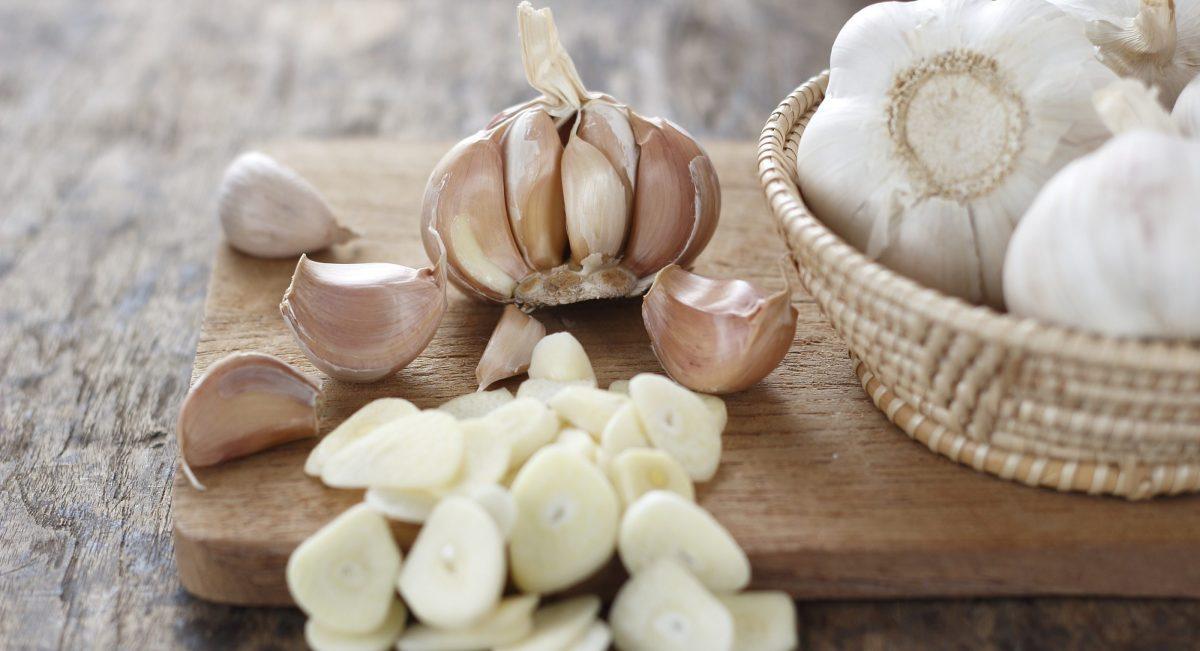 Garlic supplements.