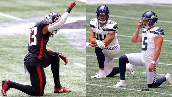 Falcons Seahawks protesta