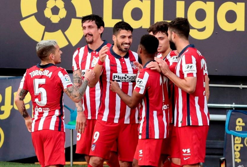 atltico 0131 efe - Otro doblete del uruguayo: Luis Suárez y el Atlético de Madrid dominan La Liga con facilidad