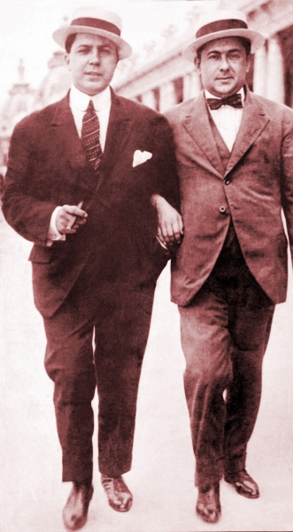 foto del dúo Gardel-Razzano en 1916 - FOTO: M.G.C.