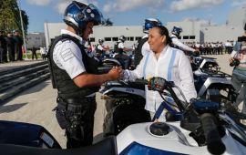 Cuadruplica Solidaridad parque vehicular de Seguridad Pública