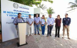 Instala Solidaridad equipamiento en Playa Xcalacoco | Buscan certificación Blue Flag