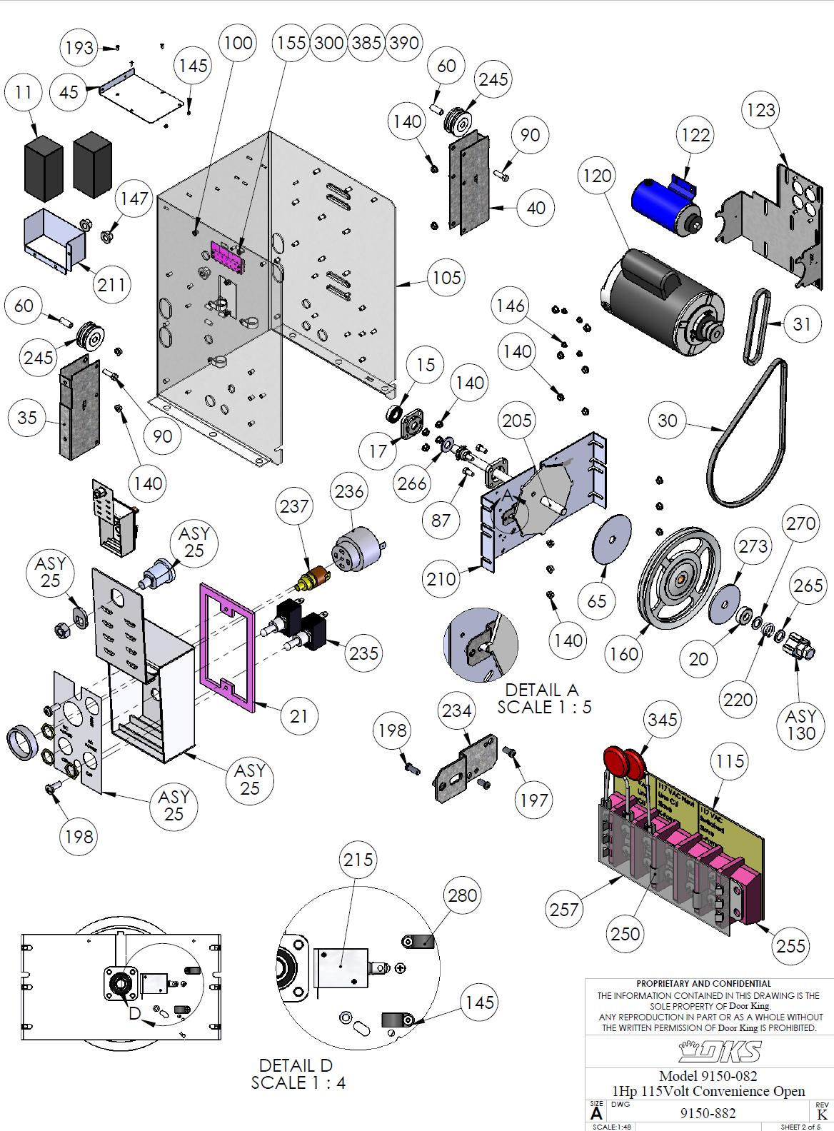 Doorking Parts Slide Gate Operators 9150-082 Doorking
