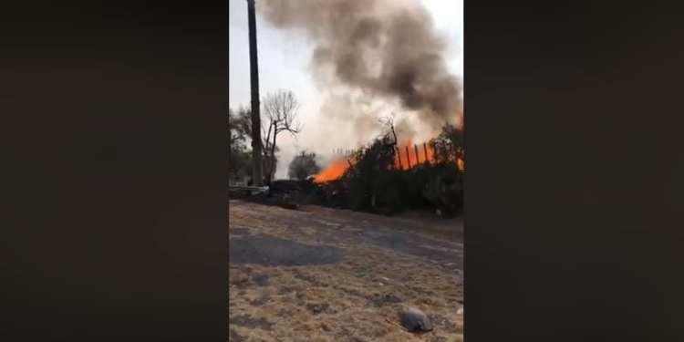 incendio en Libramiento Oriente