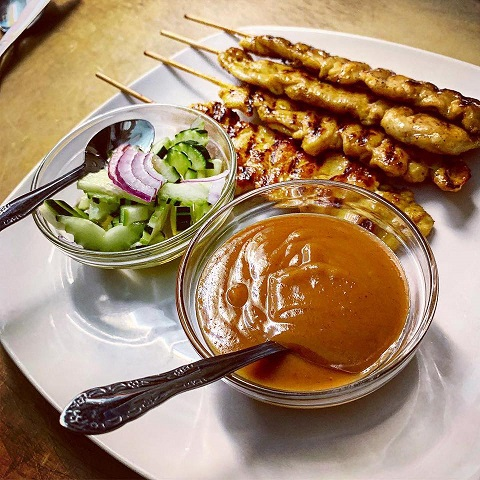 Chicken satay-ing ain't easy to make, but it easy to eat!