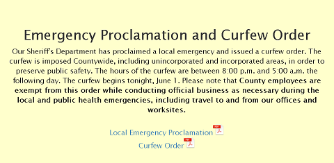 Keeping Our Community Informed: Alameda County Curfew