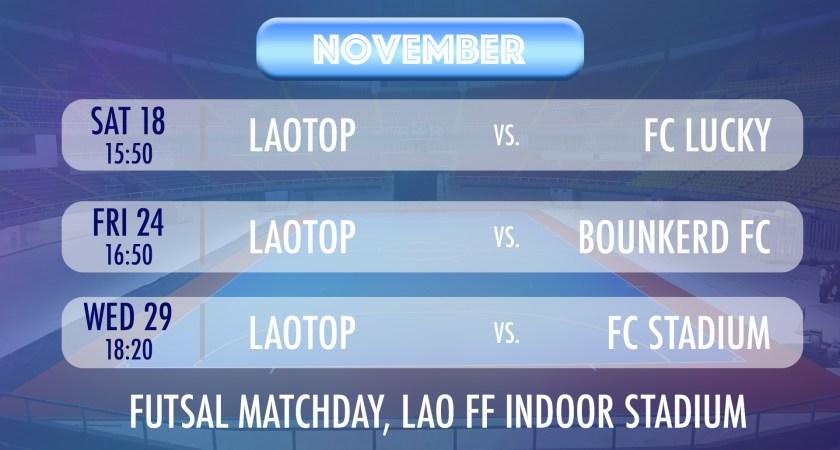 Futsal Matchday in November