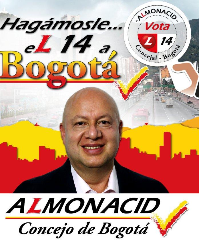 Juan Carlos Almonacid quiere llegar al Concejo de Bogotá con el número 14 por el Partido Liberal
