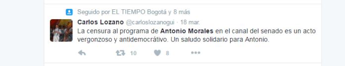 Twitter de Carlos Lozano