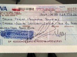 Cheque de Santrich