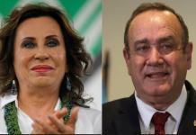 Sandra Torres y Alejandro Giammattei