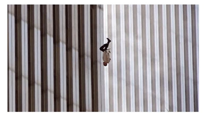 El hombre que cae