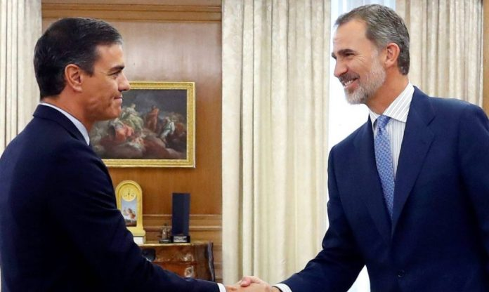 Pedro Sánchez y rey Felipe VI
