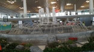 Beijing Airport's fountain