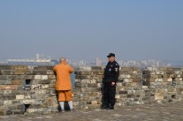A monk and security guard