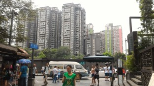 Example of how many Chinese live; in high apartment buildings