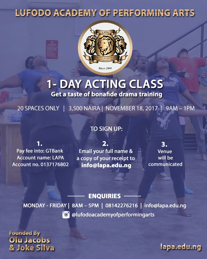 Acting Class - Accredited Acting School in Lagos, Nigeria