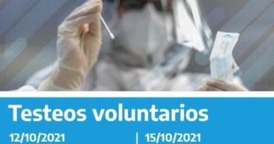 Operativo Cuidar: Se informa el cronograma de testeos voluntarios para esta semana