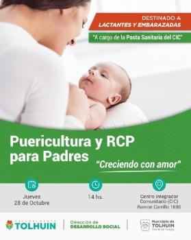 Creciendo con Amor: Brindarán una charla sobre Puericultura y RCP para Padres en Tolhuin