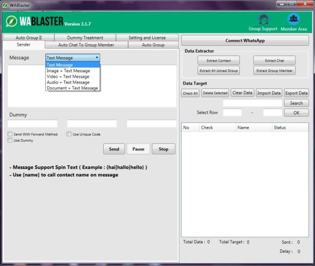 software whatsapp blaster 2018