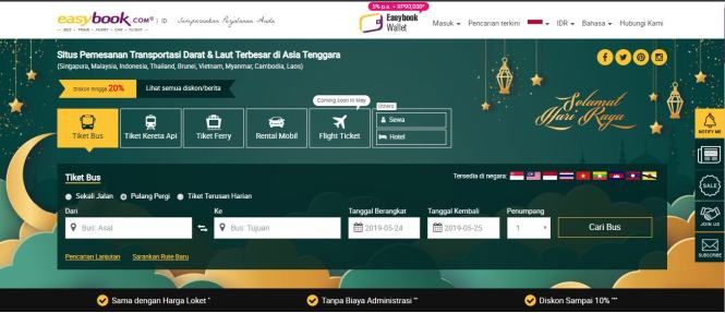 Cara Beli Tiket Bus Online Di Easybook