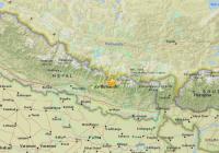 Peta lokasi gempa nepal