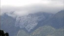 Vulkan Aschewolke Japan