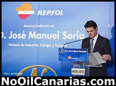 Erdölbohrung vor den Kanaren-Industrieminister Jose Manuel Soria