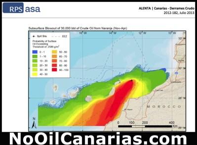 Ausbreitungsgebiet einer Ölkatastrophe