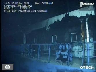 Schiffswrack ROV Aufnahme