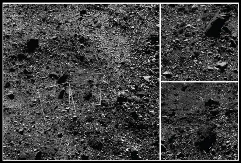 Asteroid Bennus Oberfläche